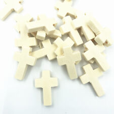 25pcs Natural color Wooden Cross shape Beads jewelry making Spacer Besds 22mm