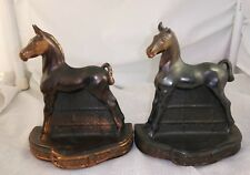 Vintage Phillip DiNapoli Horse Copper Plated Bookends