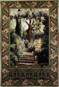 "Large Grande Tapestry ""Garden Path Grandeur"" 52"" x 78"""