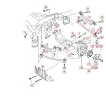 Audi Q7 4M Rear Left Wishbone 4M0501529N NEW GENUINE
