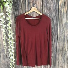 Vince XS Women's Top Shirt Long Sleeve Red Casual Tee