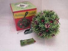 Holiday Sachet Ugly Christmas Sweater Party Kissing Ball RETRO Fake Plastic Gree