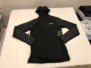 NWT $70.00 Nike Mens Pro Therma Spehere LS Running Hoodie Black Size MEDIUM