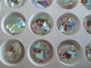 Czech Preciosa 18mm Large Crystal AB Rhinestones  - Brilliant Cut - 24 Pieces