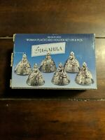 Godinger Silver Art Co - Silver Plated Woman Placecard Holder Set of 6 - Susanna
