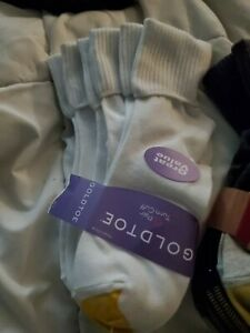 Gold Toe Women's 6 Pack Sock Size 9-11 Turn Cuff Assorted Colors