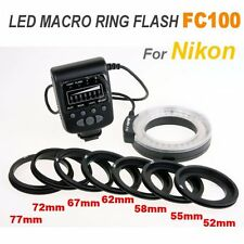 Meike LED Macro Ring Flash FC100 For Nikon D7100 D5200 D600 D3200 Camera DSLR