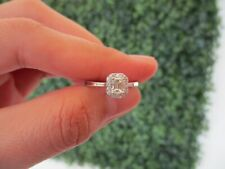 1.85ct Illusion Emerald Cut Diamond White Gold Engagement Ring 14k ER171 sep