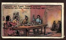 Tobacco Card, Imperial, CANADIAN HISTORY, 1926, Champlain Memberton & Indians,#4
