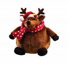 GUND Christmas stuffed animal plush NWT ROLLY POLLY REINDEER toy brown round