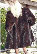Manteau Bernard Laborie SIF D'Or chaude hiver fourrure véritable vison 38 40
