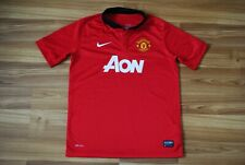KIDS BOYS 12-13 YEARS L MANCHESTER UNITED 2013-2014 HOME FOOTBALL SHIRT JERSEY