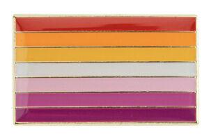 Lesbian Sun Set Flag Lapel Pin - Superior High Quality Enamel (LGBT Gay Pride)