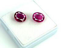 Oval Pinkish Red Rubellite Tourmaline Gemstone Pair Natural 13.75 Ct Certified