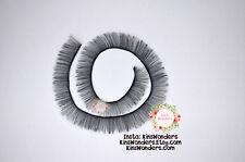 Doll toy eyelashes, Black Brown White 3 10mmx20cm Doll making custom OOAK Blythe