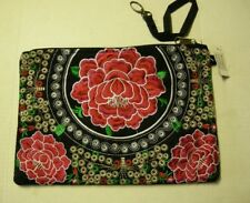 "Makeup/Cosmetic Bag, Red Roses Design By Bijorca,11"" x 8"", Brand New"