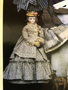 "15"" FRENCH FASHION DOLL SUMMER TUNIQUE  COSTUME PATTERN"