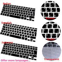 KQ_ BL_ Silicone Keyboard Cover for MacBook Retina Mac 13 15 17 New