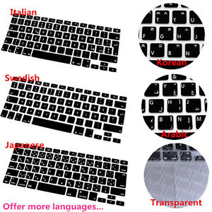 EG_ BL_ Silicone Keyboard Cover for MacBook Air Pro Retina Mac 13 15 17 New