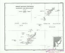 Okinawa Enemy Dispositions 1944 CIA declassified map World War 2 WWII