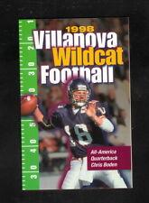 Villanova Wildcats--1998 Football Pocket Schedule--Radnor Pharmacy