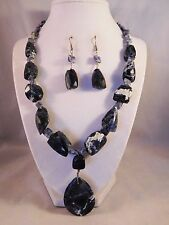 Earrings by Healing Light Stones Handcrafted Natural Sodalite Necklace &