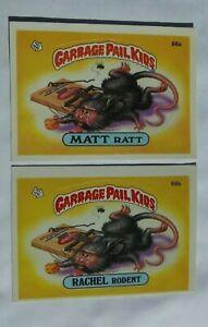 1985 Topps Garbage Pail Kids Series 2 Matt Ratt 66a & Rachel Rodent 66b