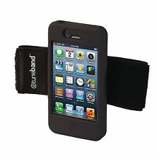 TuneBand for iPhone 4 / iPhone 4S, Premium Sports Armband - Black Silicone