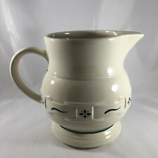 Longaberger Pottery Woven Traditions Heritage Green Large 2 Qt Pitcher