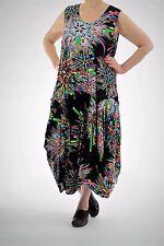 ♦ leichtes Sommer--Ballon*Kleid Gr. XXL ..46,48,50 schwarz-bunt ♦