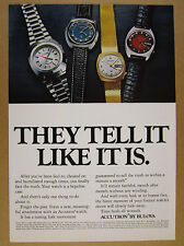 1972 Bulova Accutron Astronaut Mark II 261 & Date/Day Watches vintage print Ad