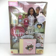 NIB Barbie Happy Family Neighborhood Midge & Nikki AA 1st Birthday Dolls Puppy