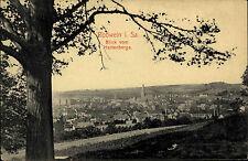 Roßwein Sachsen ~1900 Blick vom Hartenberg Totale Verlag Brück & Sohn ungelaufen