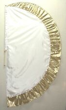 White/Gold Angel's Wing Flag with Pole - Christian Worship Dance