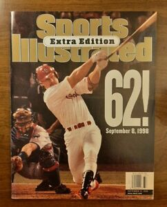 Sports Illustrated Extra Edition Mark McGwire 62 Home Runs, Sept. 14, 1998 Issue