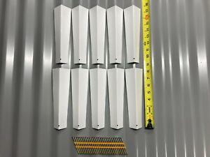 """Pack Of 10 8"""" Aluminum Siding Corner Brand New"""