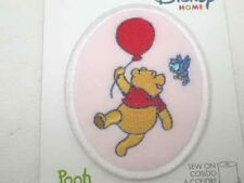 Disney Pooh w Balloon Embroidered Sew On Patch Pink