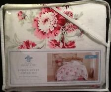 Rachel Ashwell Simply Shabby Chic King Duvet Cover Set Pink rose White cottage