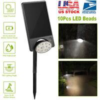 LED Solar Powered Spotlight Outdoor Yard Lawn Garden  Light Lamp Waterproof IP65