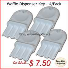 """Universal"" -  Waffle Key for Paper Towel & Toilet Tissue Dispensers (4/pk.)"