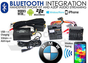 BMW 5 Série E39 Appels Mains Libres Bluetooth Streaming CTABMBT009 Aux MP3