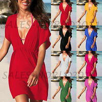 LADIES BEACH KAFTAN DRESS COVER UP BIKINI SWIMWEAR SARONG FASHION HOLIDAY UK