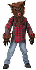 Werewolf Brown Child Boys Deluxe Costume Mask Halloween Dress Up Funworld