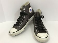 Converse All Star Unisex Men's 8.5 Womens 10.5 Brown Leather High Tops Shoes
