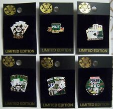 WSOP 2006 World Series of Poker Collector Pin - Set of Six