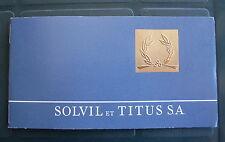VINTAGE GARANZIA SOLVIL et TITUS WATCH INUSATA WARRANTY & SERVICE BOOKLET