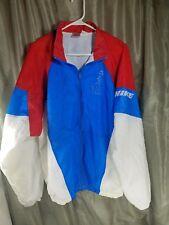 Nike Women's Race Running Red White Blue Windbreaker Jacket Sz XL Full Zip