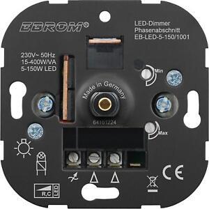 EBROM® Unterputz LED 5-150 W Dimmer Drehdimmer 5 Jahre Garantie! Phasenabschnitt