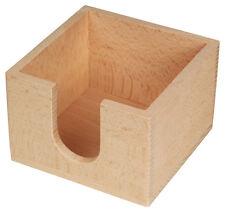 Zettelbox Zettelklotz Zettelhalter Notizblock Zettel - aus Buchenholz 10,5 cm