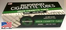 Shargio Green (Menthol) King Size Cigarette Tubes - Lot Of 5 Boxes